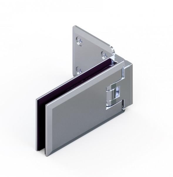 MILANO shower door hinge glass-wall 90°