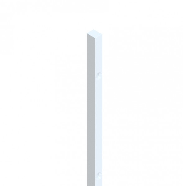 Wall attachment bar for seals, length 2000 mm, for 6 and 8 mm glass