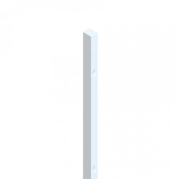 Trägerprofil für Dichtprofile, silberfarben, Länge 2500 mm, für 6 und 8 mm Glas